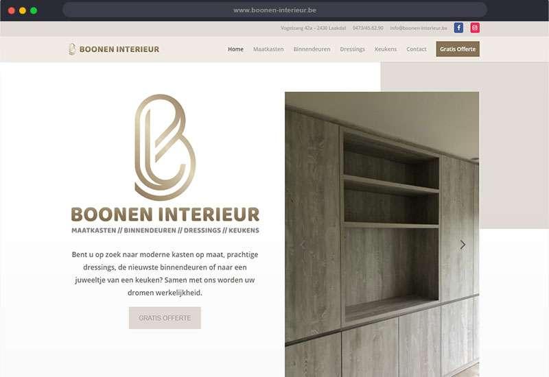 Website voor Boonen Interieur