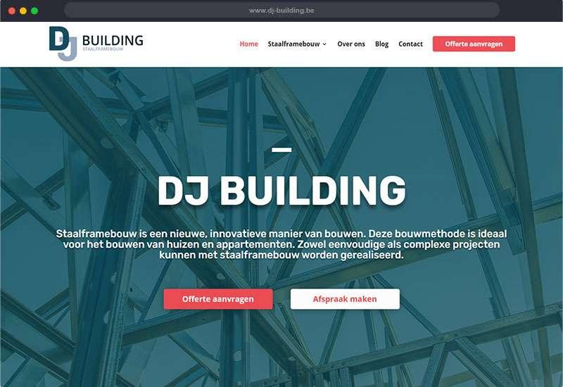 website voor DJ Building