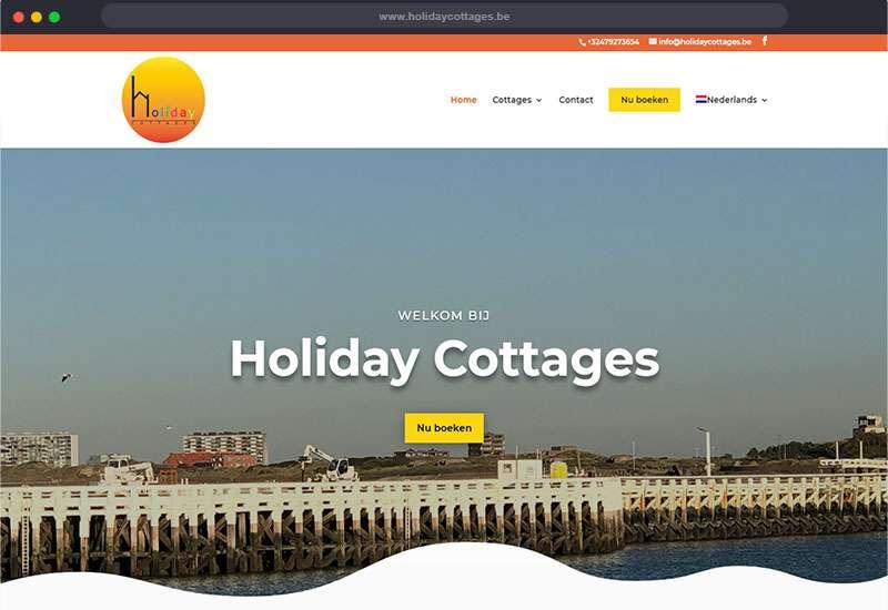 website voor Holiday Cottages