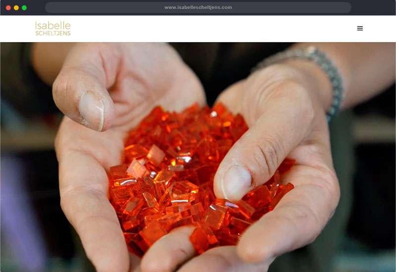 Website voor Isabelle Scheltjens