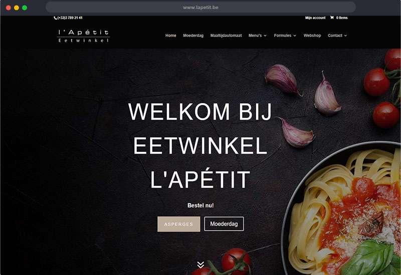 website voor l'Apétit