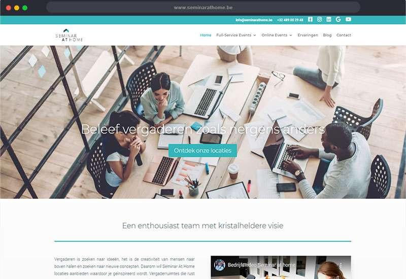 website voor Seminar at Home
