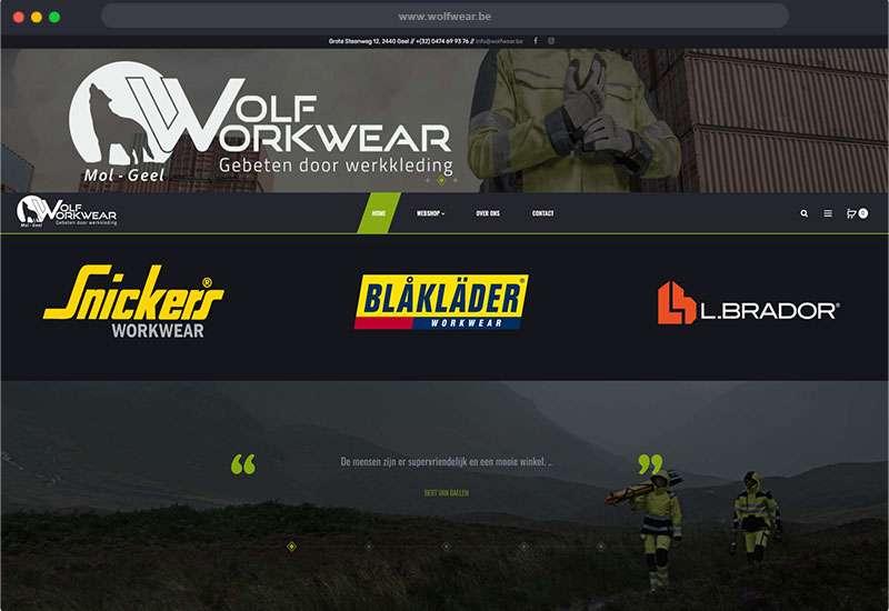 website van Wolf Workwear