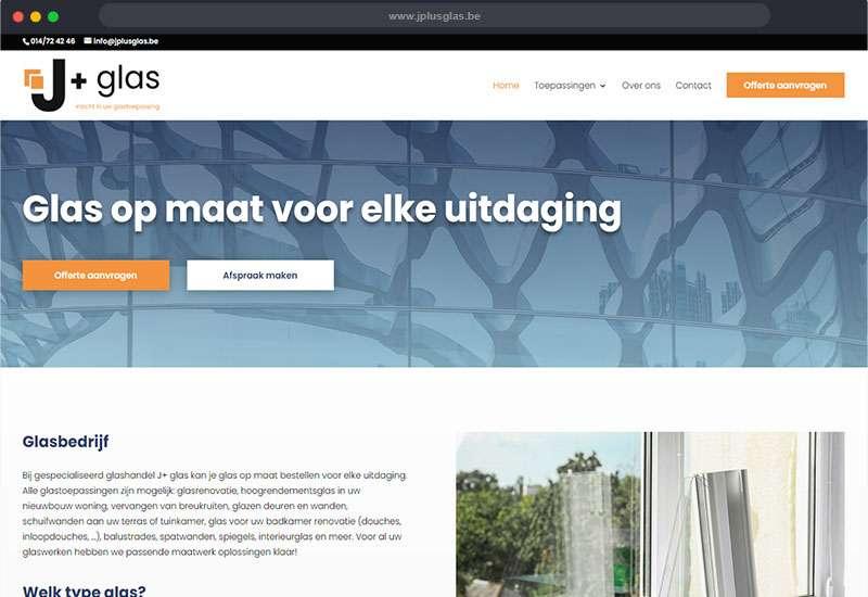 website voor J+glas