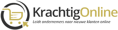 nieuw logo van Krachtig Online in zwart en goud zonder achtergrond